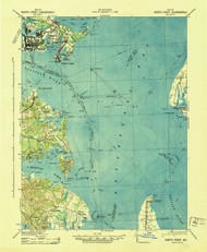 North Point, Maryland 1943 (1943) USGS Old Topo Map 15x15 Quad