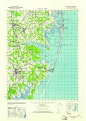 Ocean City, Maryland 1942 (1961) USGS Old Topo Map 15x15 Quad