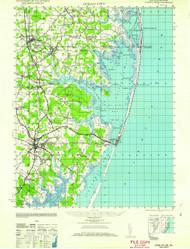 Ocean City, Maryland 1961 (1961) USGS Old Topo Map 15x15 Quad
