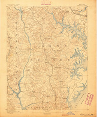 Owensville, Maryland 1892 (1892) USGS Old Topo Map 15x15 Quad