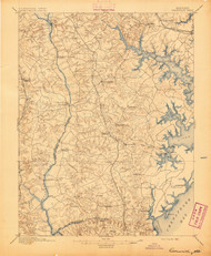 Owensville, Maryland 1895 (1895) USGS Old Topo Map 15x15 Quad
