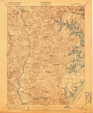 Owensville, Maryland 1905 (1918) USGS Old Topo Map 15x15 Quad