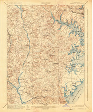 Owensville, Maryland 1905 (1926) USGS Old Topo Map 15x15 Quad