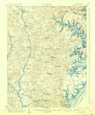 Owensville, Maryland 1905 (1936) USGS Old Topo Map 15x15 Quad