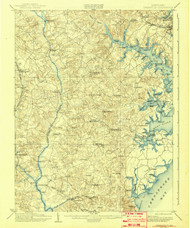Owensville, Maryland 1905 (1942) USGS Old Topo Map 15x15 Quad