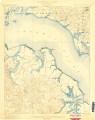Piney Point, Maryland 1901 (1901) USGS Old Topo Map 15x15 Quad