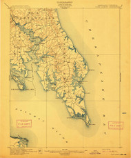 Pooint Lookout, Maryland 1912 (1912) USGS Old Topo Map 15x15 Quad