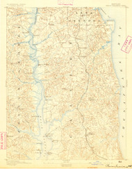 Prince Frederick, Maryland 1892 (1892) USGS Old Topo Map 15x15 Quad