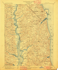 Prince Frederick, Maryland 1901 (1901) USGS Old Topo Map 15x15 Quad
