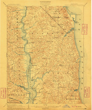 Prince Frederick, Maryland 1910 (1910) USGS Old Topo Map 15x15 Quad