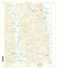 Prince Frederick, Maryland 1910 (1931) USGS Old Topo Map 15x15 Quad