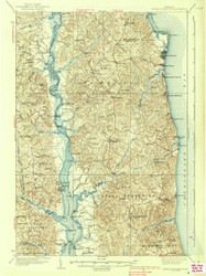 Prince Frederick, Maryland 1938 (1938a) USGS Old Topo Map 15x15 Quad