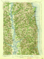 Prince Frederick, Maryland 1938 (1938b) USGS Old Topo Map 15x15 Quad