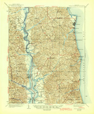 Prince Frederick, Maryland 1938 (1946) USGS Old Topo Map 15x15 Quad