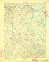 Relay, Maryland 1894 (1894) USGS Old Topo Map 15x15 Quad