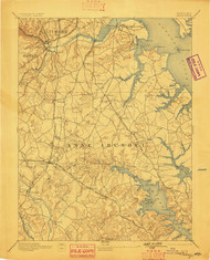 Relay, Maryland 1894 (1898) USGS Old Topo Map 15x15 Quad