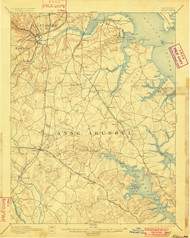 Relay, Maryland 1894 (1901) USGS Old Topo Map 15x15 Quad