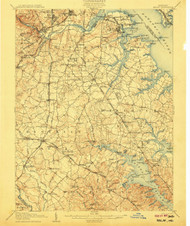 Relay, Maryland 1907 (1907) USGS Old Topo Map 15x15 Quad