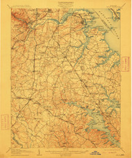 Relay, Maryland 1907 (1912) USGS Old Topo Map 15x15 Quad