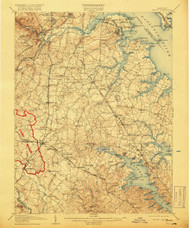 Relay, Maryland 1907 (1918) USGS Old Topo Map 15x15 Quad