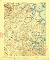 Relay, Maryland 1907 (1923) USGS Old Topo Map 15x15 Quad