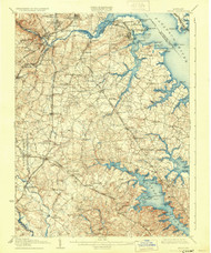 Relay, Maryland 1907 (1931) USGS Old Topo Map 15x15 Quad