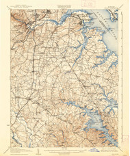 Relay, Maryland 1907 (1939) USGS Old Topo Map 15x15 Quad