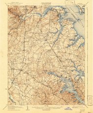 Relay, Maryland 1907 (1941) USGS Old Topo Map 15x15 Quad