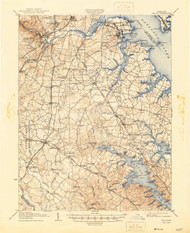 Relay, Maryland 1907 (1946) USGS Old Topo Map 15x15 Quad