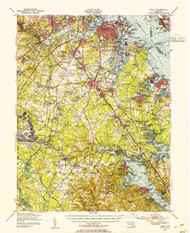 Relay, Maryland 1947 (1954a) USGS Old Topo Map 15x15 Quad