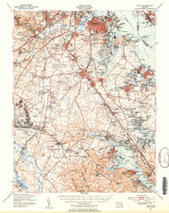 Relay, Maryland 1947 (1954b) USGS Old Topo Map 15x15 Quad