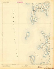 Sharps Island, Maryland 1893 (1893) USGS Old Topo Map 15x15 Quad