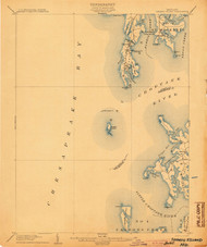 Sharps Island, Maryland 1904 (1904) USGS Old Topo Map 15x15 Quad