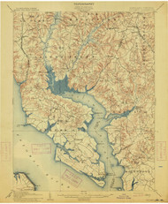 Wicomico, Maryland 1914 (1914) USGS Old Topo Map 15x15 Quad