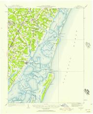 Accomac, Virginia 1931 (195i7a) USGS Old Topo Map 15x15 Quad