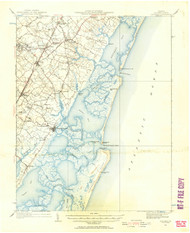 Accomac, Virginia 1931 (1957b) USGS Old Topo Map 15x15 Quad