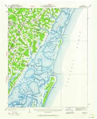 Accomac, Virginia 1931 (1962) USGS Old Topo Map 15x15 Quad