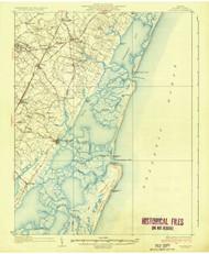 Accomac, Virginia 1935 (1935a) USGS Old Topo Map 15x15 Quad