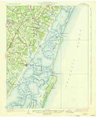 Accomac, Virginia 1935 (1935b) USGS Old Topo Map 15x15 Quad