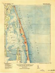 Back Bay, Virginia 1916 (1916) USGS Old Topo Map 15x15 Quad