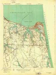 Cape Henry, Virginia 1919 (1932) USGS Old Topo Map 15x15 Quad