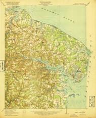 Heathsville, Virginia 1917 (1917) USGS Old Topo Map 15x15 Quad