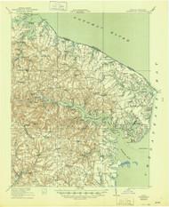 Heathsville, Virginia 1917 (1944) USGS Old Topo Map 15x15 Quad