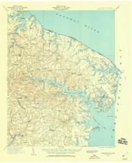 Heathsville, Virginia 1917 (1960) USGS Old Topo Map 15x15 Quad