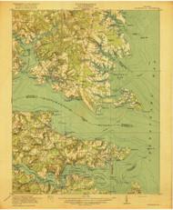 Kilmarnock, Virginia 1917 (1917) USGS Old Topo Map 15x15 Quad