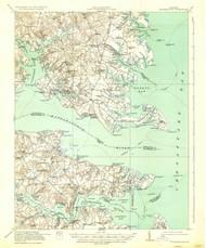 Kilmarnock, Virginia 1917 (1937) USGS Old Topo Map 15x15 Quad