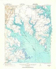 Mathews, Virginia 1916 (1965) USGS Old Topo Map 15x15 Quad