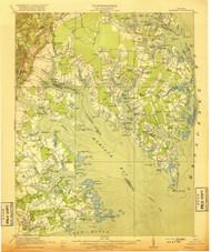Mathews, Virginia 1917 (1917) USGS Old Topo Map 15x15 Quad