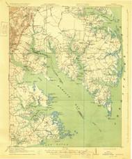 Mathews, Virginia 1917 (1930) USGS Old Topo Map 15x15 Quad