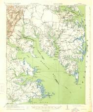 Mathews, Virginia 1917 (1934) USGS Old Topo Map 15x15 Quad